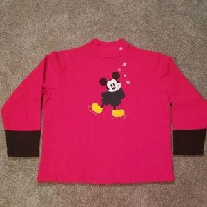 Mickey Mouse Ice Skate Red Sweater